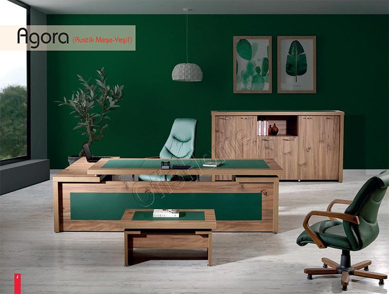 Agora (Rustik Meşe - Yeşil)